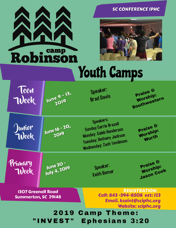 2019 Youth Camp Flyer Website