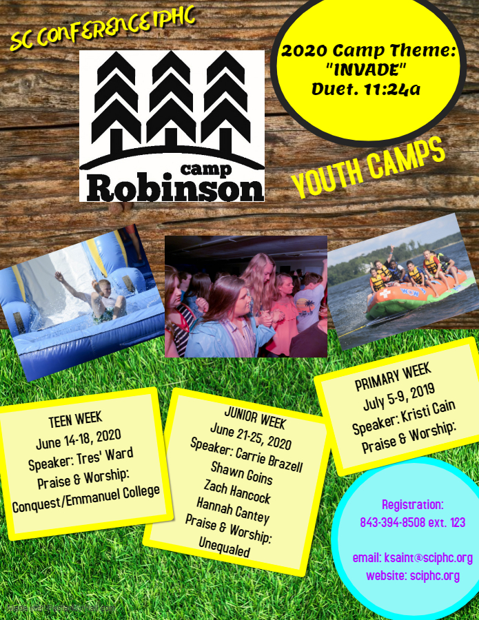 Youth Camp 2020 Flyer