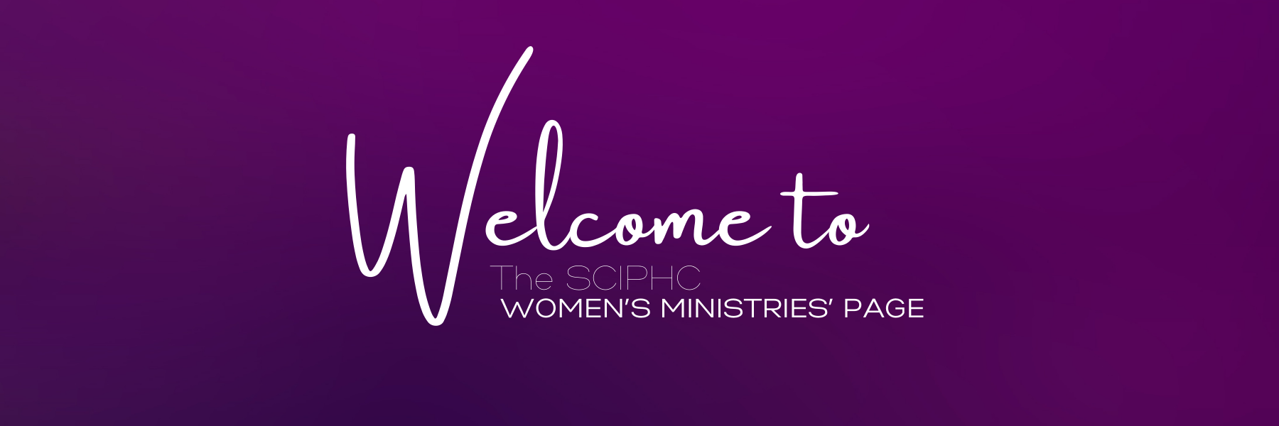 Welcome to the South Carolina Women's Ministries' page.