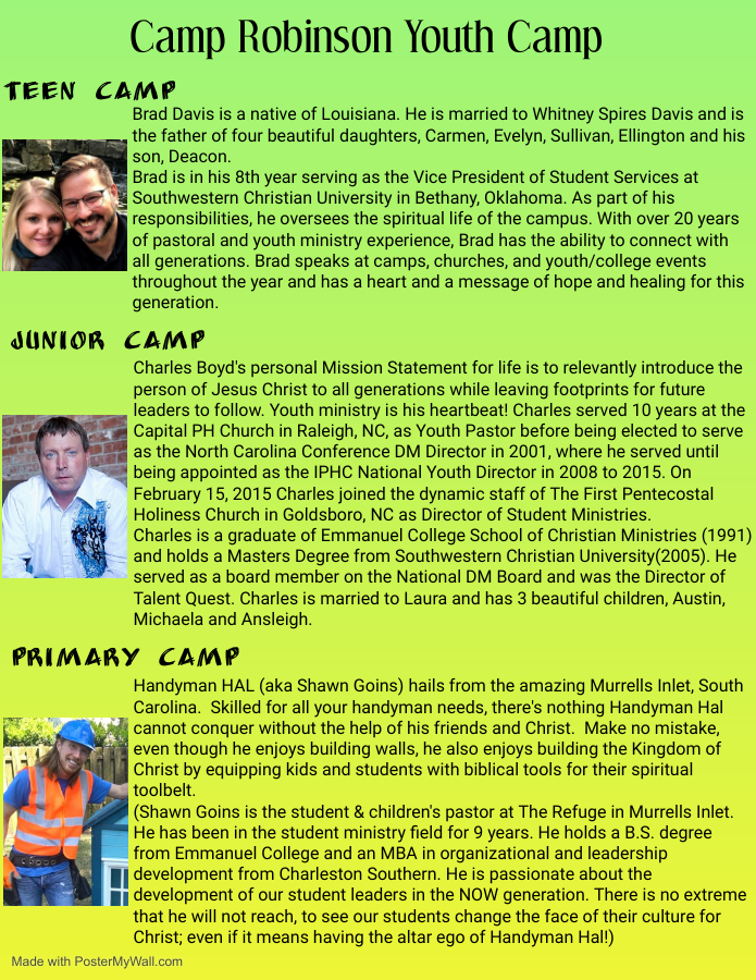 Youth Camp Speakers