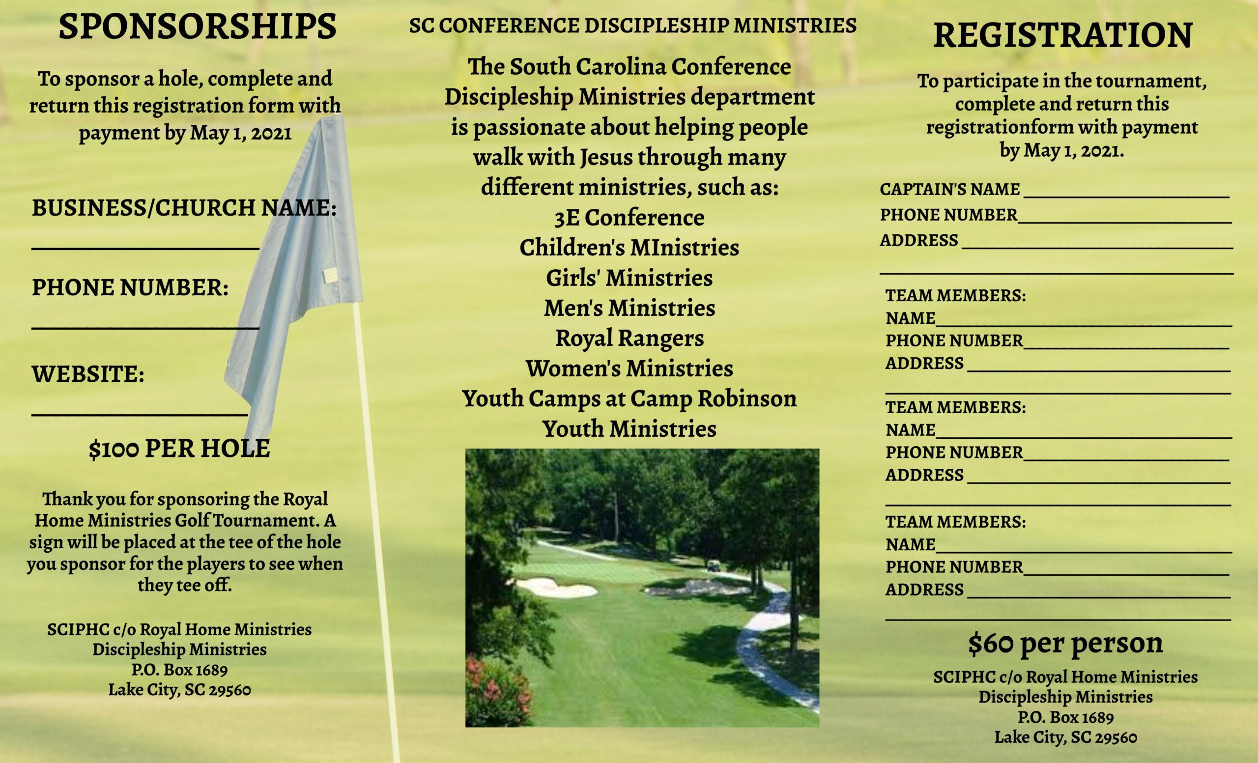 Royal Home Ministries Golf Tournament Inside - 1